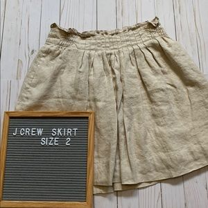 J crew paper bag style skirt size 2 W/ POCKETS
